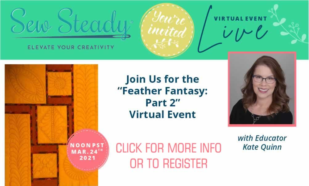FEATHER FANTASY SAMPLER CLASS: PART 2 VIRTUAL EVENT WITH KATE QUINN, MARCH 24TH 2021